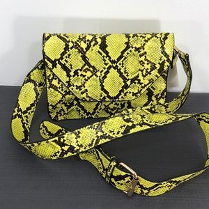 Orchid Love Crossbody/Shoulder Purse Snake Print